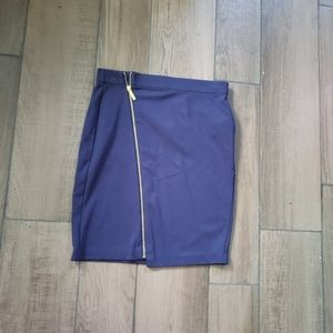 Michael Kors navy asymmetrical mini skirt 6